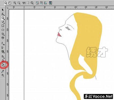 时装画绘画技法-装饰性画法