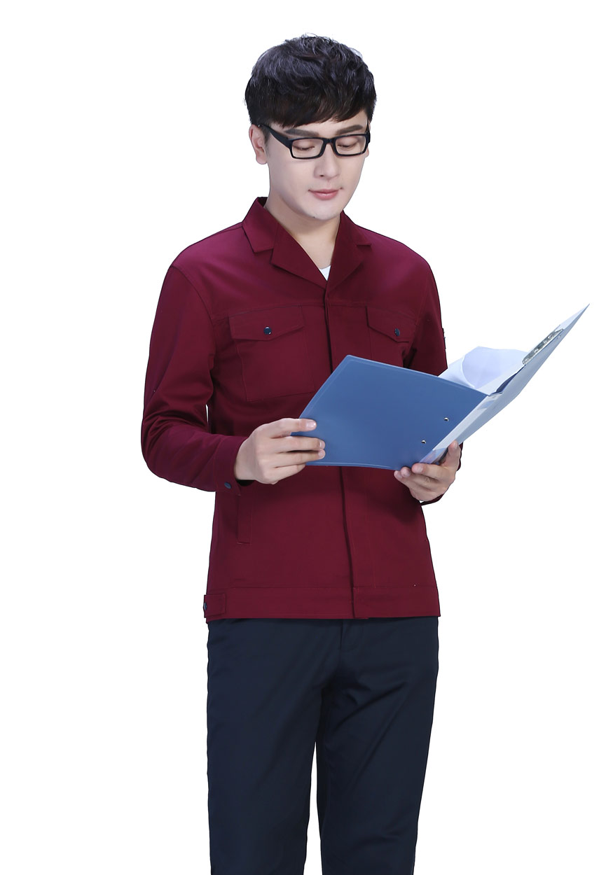 艳兰色春秋工作服FY8001